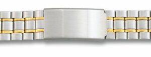 20-mm-Bicolor-Edelstahl-Uhren-Armband-mit-Faltschliesse-Uhrband-Stahl-Uhr-Band