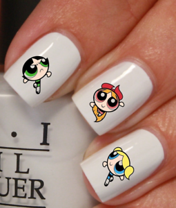 filles-bouffees-de-puissance-Autocollant-Stickers-ongles-nail-art-manucure