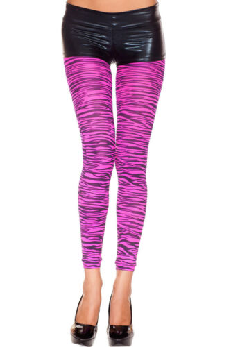 Animal Print Cat Tiger//Leopard Sheer Dance Raver Costume Slim Spandex Leggings