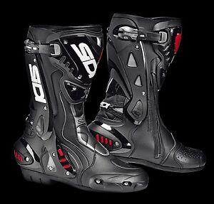 NEU-SIDI-Motorradstiefel-ST-Stealth-schwarz-Gr-40-Racing-Motorrad-Stiefel-NEW
