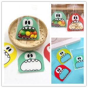 Cookie-Candy-Bag-Self-Adhesive-Plastic-Bags-Biscuits-Package-Cartoon