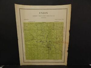 Iowa Mahaska County Map Union Township 1913 Y12#34