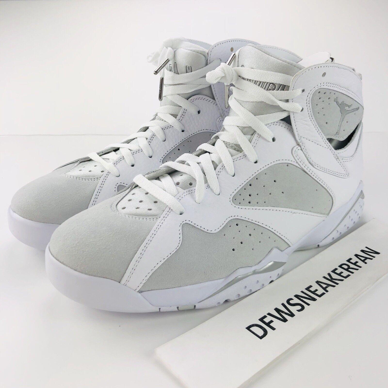 Nike Air Jordan VII 7 7 7 Retro Herren Größe 10 Pure Geld Platin 304775-120 Neu 88a93e