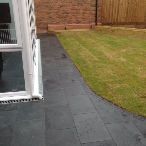 Black Slate Paving✔Patio Slabs Garden✔5m2 600x400mm  20mm Thick✔FREE✔DELIVRY✔