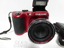 Samsung WB100 16.2 Megapixel Compact Camera - Red EC-WB100ZBARUS Digital Cameras
