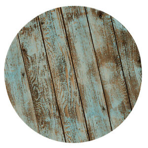 49-034-Shabby-Wood-Elastic-Band-ROUND-TABLECOVERS-Table-Cloth-Cover-Tableware