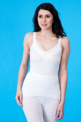 Thermal or Cotton Lace Trim French Neck Spencer Sizes 10-28