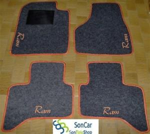 4 decori DODGE RAM TAPPETI tappetini AUTO 4 block