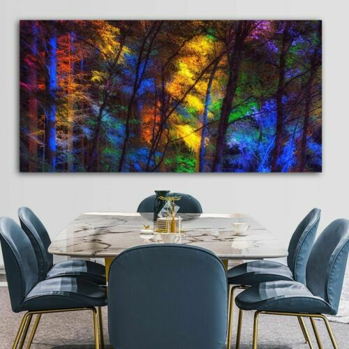 Art Prints Forest Trees Canvas Poster Wall Large Living Room Picture Home Decor