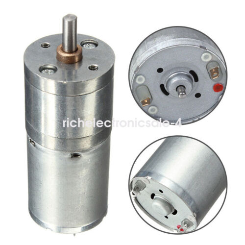 DC 12V 60RPM Micro Speed Reduction Gear Motor with Metal Gearbox Wheel Shaft jc