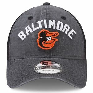 brand new 4cd59 fb7cf Baltimore Orioles Era Black Rugged Team 9twenty Snapback Adjustable Hat
