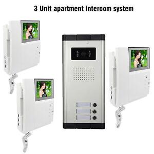 3 unit apartment intercom system 4 3 monitor video for 24 unit apartment building for sale