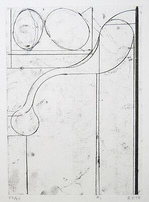 "RICHARD DIEBENKORN Signed 1978 Original Etching - ""Six Softgrounds #1"", Ed. 35"