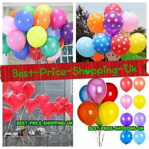 100 LARGE CLEAR BALONS BALLONS HELIUM BALLOONS Birthday Wedding BALOONS PARTY UK