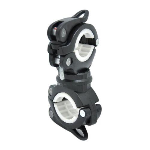 360° Flashlight Torch Rotating Bike Bicycle Handlebar Mount Clamp Clip Holder UK