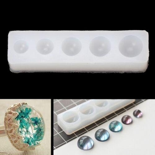 White Hemisphere Pendant Mold Resin Jewelry Pendant Making Epoxy Casting