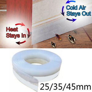 Sealing Strip Door bottom Silicone Rubber Translucent Seal Tape Multi functional