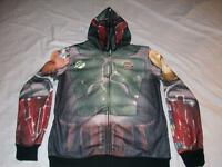Boba Fett Armor Star Wars Hoodie Adult Small Jacket Costume Cos-play