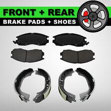 FRONT + REAR Semi-Metallic Brake Pads + Shoes 2 Sets Fits Kia Sedona 2004-2005