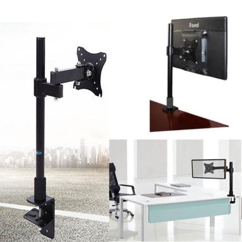 Adjustable 10-27/'/' Single//Dual Arm Monitor Mount Desk Table Stand Bracket UKSale