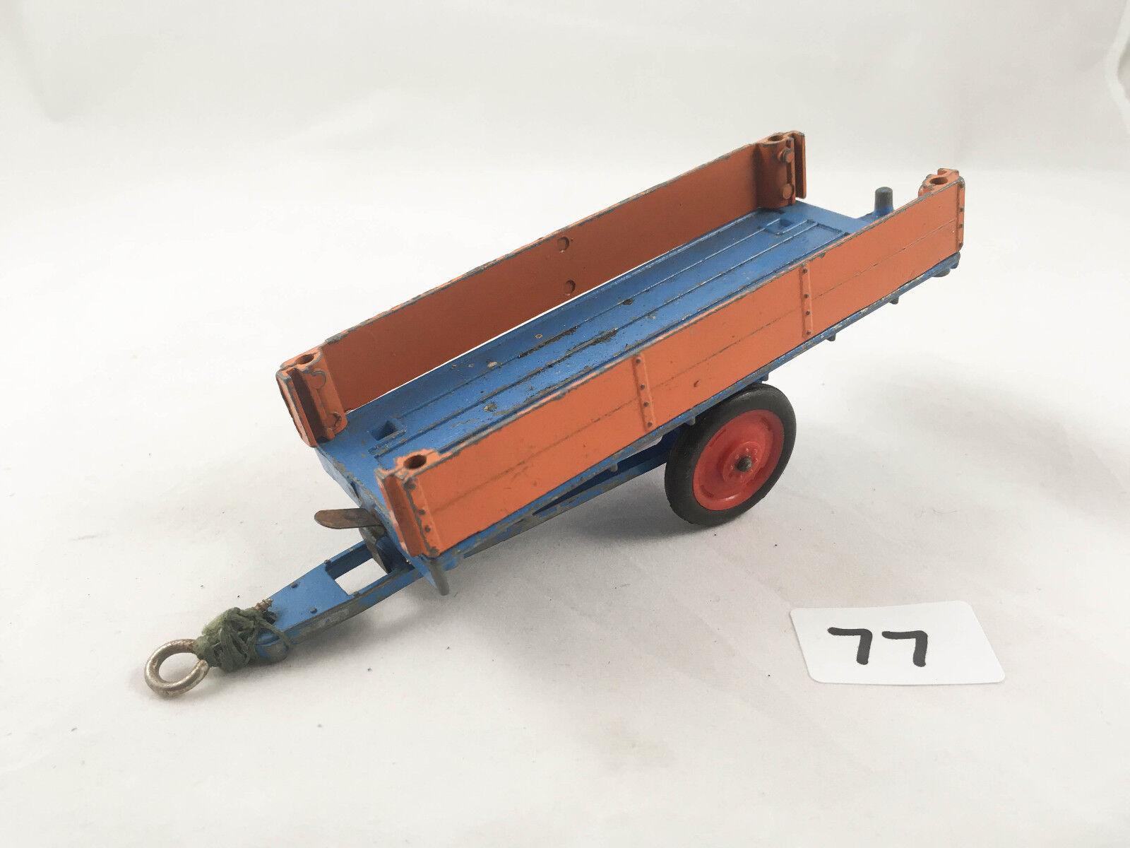 Très rare vintage CRESCENT TOYS   1810 Remorque Ferme Agricole Diecast Bleu Marron