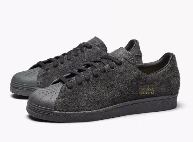 Adidas Superstar 80s Clean Men's Classic Retro Shoes BZ0566 Black Gray Size 7
