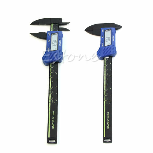 150mm 6inch LCD Digital Electronic Gauge Carbon Fiber Vernier Caliper Micrometer