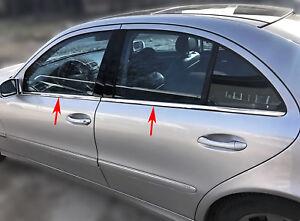 Acero inoxidable las barras de la ventana cromo para mercedes clase e w211 | 2002-2009 | 4tlg set