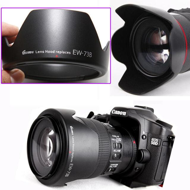 Crown Lens Hood for Canon EW-73B 60D 600D 550D 450D 18-135 17-85 Fuji S205 EF100