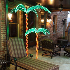 Image Is Loading Led Green Tropical Palm Tree Outdoor Rope Light