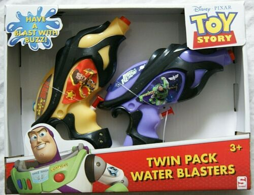 Toy Story Buzz Lightyear Twin Pack Eau Blasters Pistols Âge 3 ans Disney