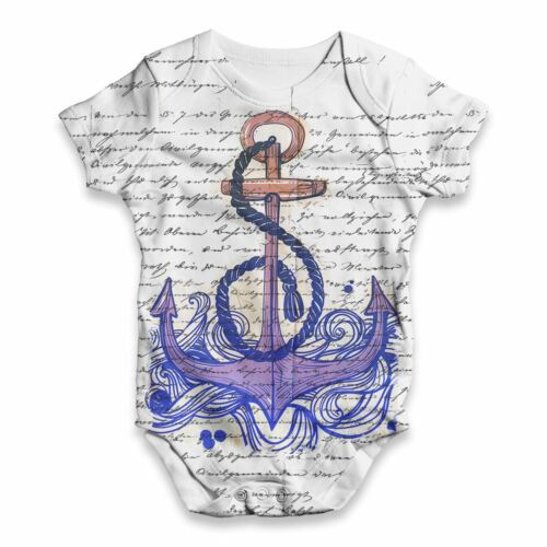 Book Print Sea Anchor Baby Unisex Funny ALL-OVER PRINT Baby Grow Bodysuit