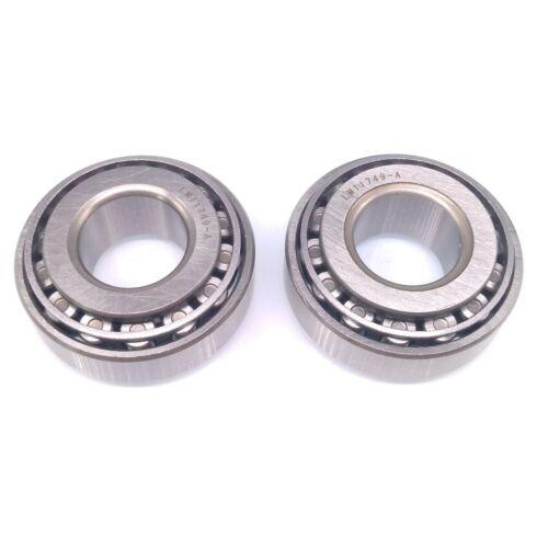 2pcs LM11749//10 Taper Roller Wheel Bearing Metric 17.5 x 40 x 14.5mm