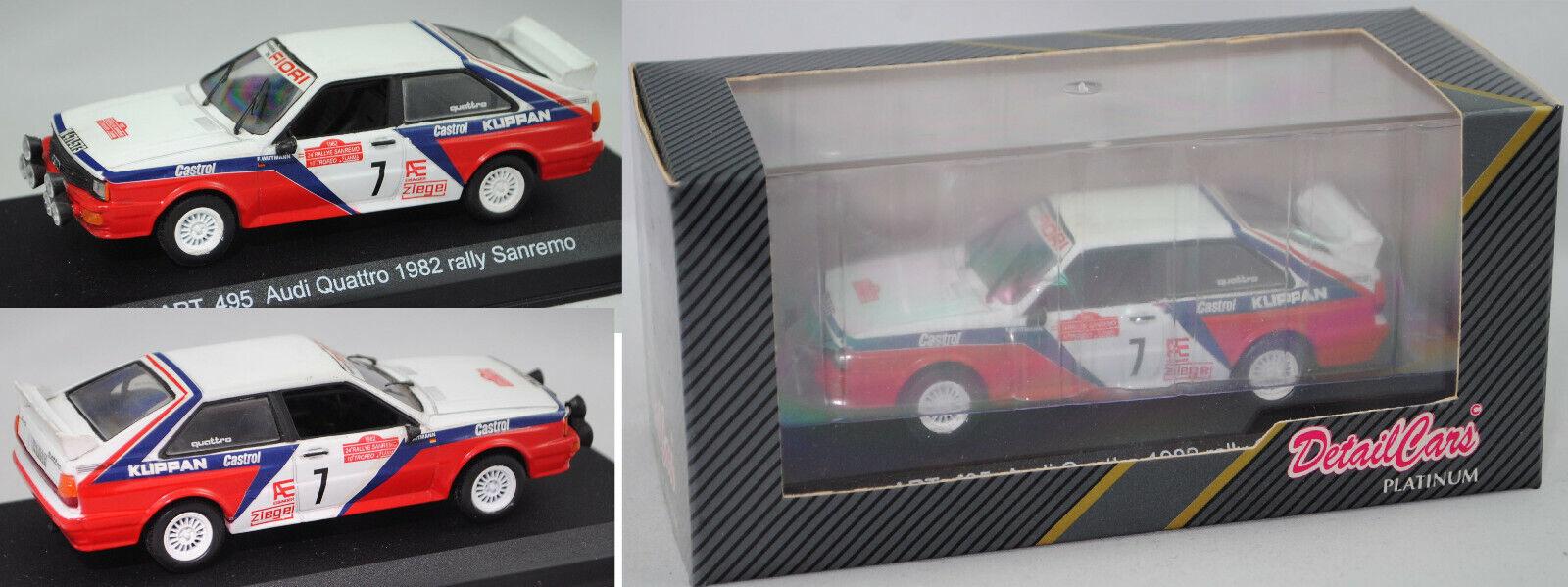 Détail voitures ® 495  Audi Quattro groupe 4 Rallye Italie 1982 WitthomHommes WAV DiekhomHommes  économiser jusqu'à 50%