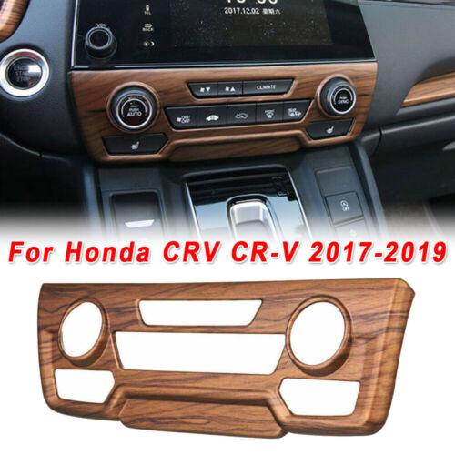 Peach Wood Grain Center Console CD Panel Cover Trim For Honda CRV CR-V 2017-2019