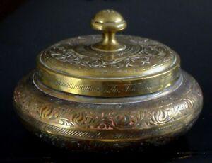 Ancienne-boite-bronze-perse-qajar-Antique-fine-box-persian-XIX