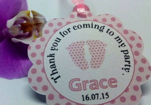 Personalised Baptism Tags Baptism Thank You Tags Christening Gift Tags