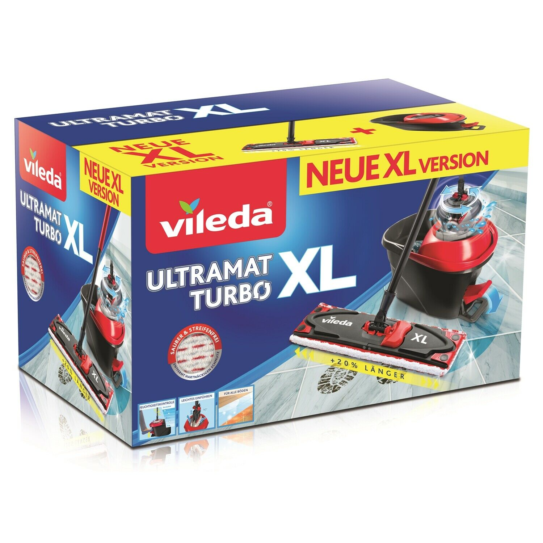Vileda Ultramat XL Turbo Komplett Box Bodenwischer   Rot 12