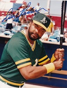 DAVE PARKER  OAKLAND A'S    ACTION SIGNED 8x10