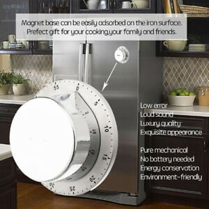 Charmant Image Is Loading Mechanical Kitchen Timer Tool Round Magnetic Cooking 60