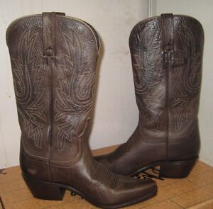 Charlie 1 Horse Westren Womens Brown Boots 4509 Size 8.5 B NEW