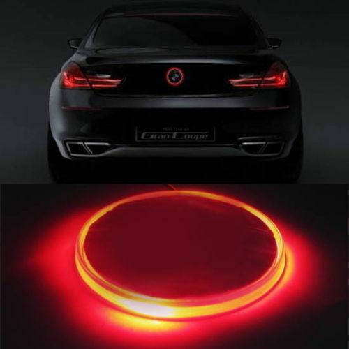 82mm RED Background Badge Logo Emblem LED Light for BMW