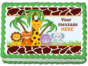 Edible Safari Cake Decorations