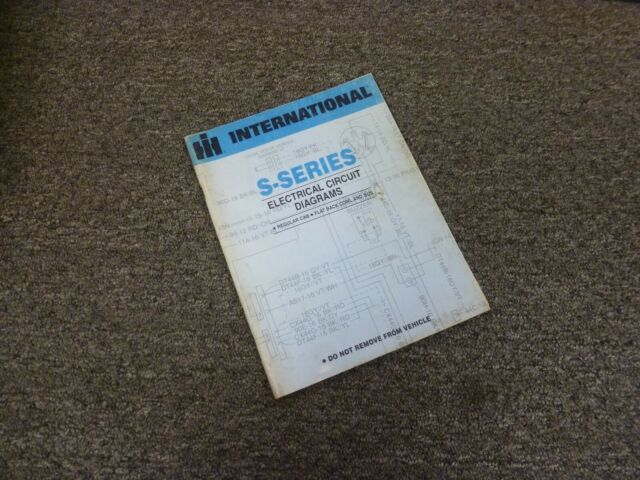 1980 International 2574 2575 2674 Truck Electrical Wiring Diagrams Manual