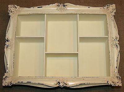 Decorative Vintage Chic Antique Frame Wall Shelf Display Cabinet Shabby Unit