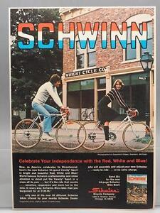 Vintage-Publicite-de-magazine-imprime-publicitaire-Schwinn-Bicycles