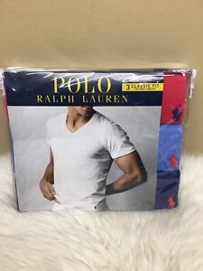 dae38c44b0a9 Polo Ralph Lauren Men's Classic Fit 3-Pack Cotton V-neck Tee Size S ...