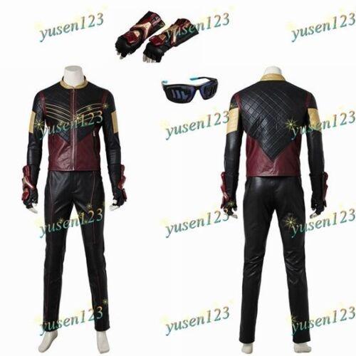 Vibe Cisco Ramon Halloween Cosplay Costume Coat Pants Gloves Glasses