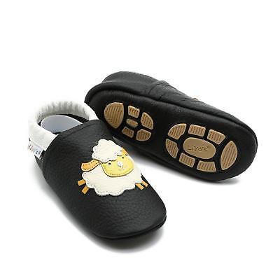 Bello Pantofole's Baby Scarpe Pantofole Liya Lauflernschuhe - #663 Pecora In Nero- Sconto Del 50
