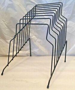 Metal-LP-File-Rack-Nice-Condition-8-Slots